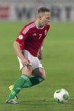 Hongarije versus de voetbalwedstrijd van Andorra Stock Fotografie