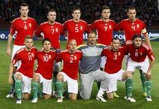 Hongarije versus Finland Stock Foto's
