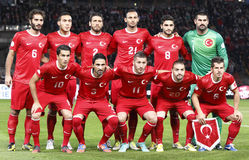 Hongarije versus het 3:1 van Turkije Royalty-vrije Stock Foto's