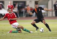 Hongarije versus Nederland (1: 4) Stock Foto