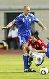 Hongarije versus San Marino 8-0 Stock Foto's
