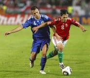 Hongarije versus San Marino 8-0 Royalty-vrije Stock Fotografie