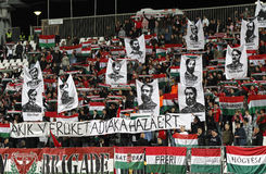 Hongarije versus San Marino 8-0 Royalty-vrije Stock Afbeelding