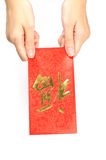 Hongbao as gift Stock Image