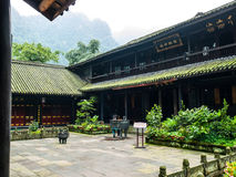 Hongchumping Temple on the way to Mount Emei Royalty Free Stock Photography
