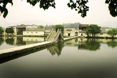 Hongcun, ancient village in china, moon bridge Stock Images