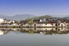 Hongcun, Ancient village in south China. Royalty Free Stock Photo