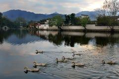 Hongcun, Anhui-provincie, China royalty-vrije stock afbeeldingen