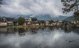 Hongcun-Dorf Anhui Stockbild