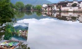 Hongcun-Dorf in Anhui Provunce, China Lizenzfreies Stockfoto