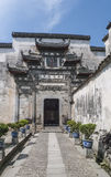 Hongcun-Dorf eine Gatehouse Skulptur Stockbild
