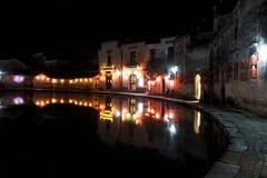 Hongcun Huangshan, деревня в изображении, известных сельских туристических местах в Китае Стоковые Изображения RF