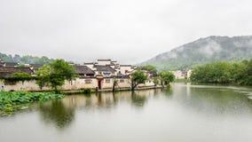 Hongcun i regn Fotografering för Bildbyråer