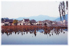 Hongcun Impression, Anhui, China Royalty Free Stock Photos
