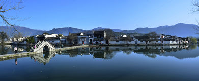Hongcun morning fresh and beautiful. Eastphoto, tukuchina,  Hongcun morning fresh and beautiful Royalty Free Stock Photo