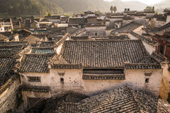 Hongcun village. Ancient town in south China, Anhui province Royalty Free Stock Photo
