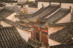 Hongcun village. Ancient town in south China, Anhui province Royalty Free Stock Image