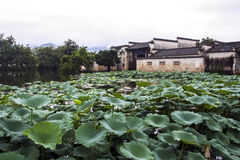 Hongcun villagesurrunded with lake in Anhui province, China Stock Photography