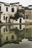 Hongcun vllage, houses reflected on water Royalty Free Stock Photography