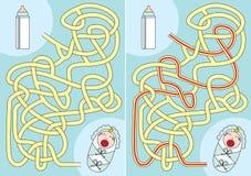 Hongerig babylabyrint royalty-vrije illustratie