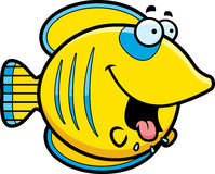 Hongerig Beeldverhaal Butterflyfish royalty-vrije illustratie
