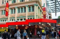 Hongerig Hefbomenrestaurant in centraal Brisbane Royalty-vrije Stock Afbeeldingen