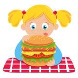 Hongerig kind vector illustratie