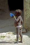Hongerig meisje, Senossa, Mali royalty-vrije stock fotografie