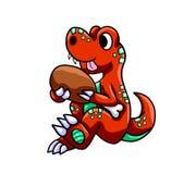 Hongerig T Rex vector illustratie