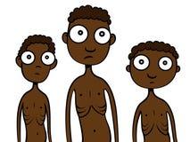 Hongerige kinderen in Afrika Royalty-vrije Stock Foto's