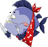 Hongerige Piranha royalty-vrije illustratie