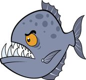 Hongerige Piranha Roosterillustratie eps vector illustratie