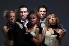 Hongerige vampierfamilie Stock Afbeelding