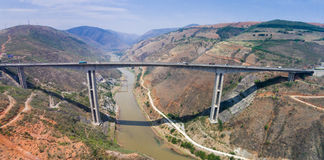 Honghe bridge. Is in Yuanjiang of Yunnan to wear black highway on the largest of a bridge, located in Yuanjiang County, Yunnan Province, across the Red River Stock Photography