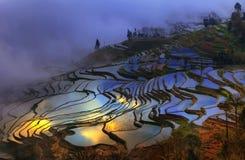 Honghe Hani tarasy Obrazy Stock