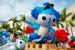 Hongkong: 2008 de Olympische Mascottes van Peking stock afbeelding