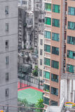 HongKong. High scyscrapers builded up extremly tightly inside of Hong Kong metropolitan city Stock Images