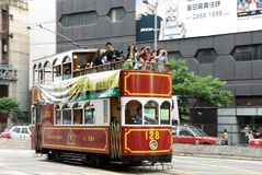 Hongkong. Sightseeing photographers spending a day Stock Images