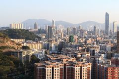 Hongkong. The highest view in sham shui po, hongkong stock photography