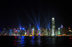 HongKong. The nigh view of Hongkong royalty free stock photo