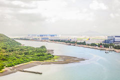 Hongkong from above Royalty Free Stock Images