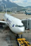 Hongkong Airport, Airplane with path channel Stock Photos