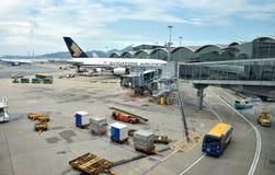 Hongkong Airport building and facilities Stock Photos