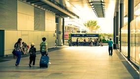 Hongkong Airport - Exit Stock Photos