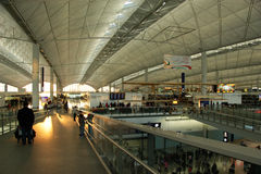 Hongkong airport interior Royalty Free Stock Photo
