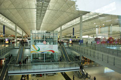 Hongkong airport interior Royalty Free Stock Images