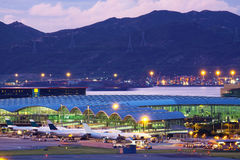 Hongkong airport Royalty Free Stock Images