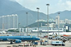 Hongkong Airport and working area Stock Images