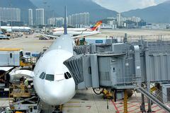 Hongkong Airport working area Royalty Free Stock Photo