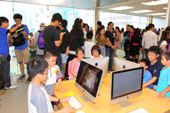 Hongkong: Apple Store Stock Afbeelding